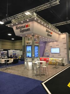 National Gypsum Studio Displays Booth Exhibit Tradeshow Design Function